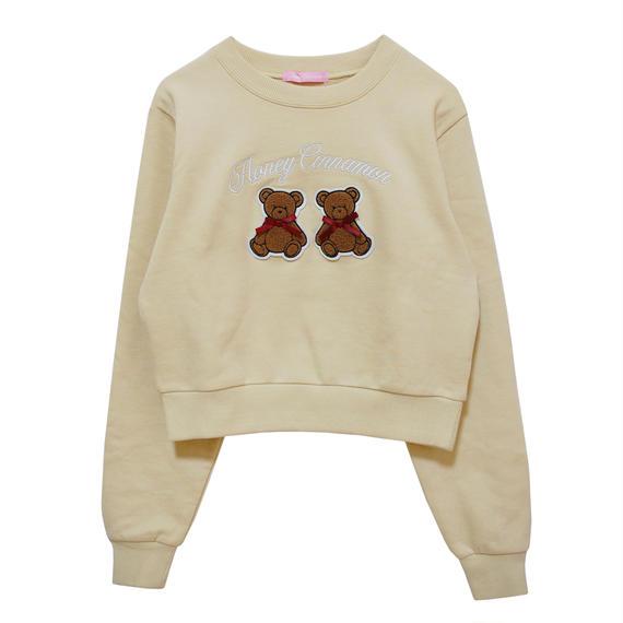 184CS1109 クマ刺繍スウェット