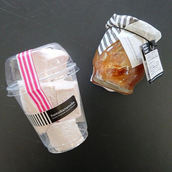 スパイスジンジャーシロップとイチゴマシュマロ