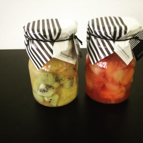 夏のフルーツポンチ(フルーツシロップ漬け、シロップ煮)