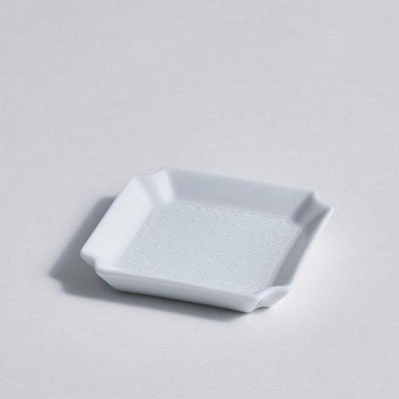 青海波角皿 小