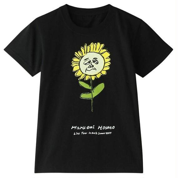 初夏キッズTシャツ(ひまわり・ブラック)