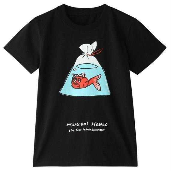 初夏キッズTシャツ(金魚・ブラック)