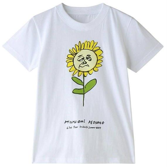 初夏キッズTシャツ(ひまわり・ホワイト)