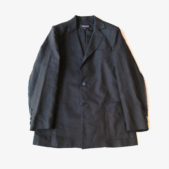 SHOOP | Linen Ballad Blazer | Black