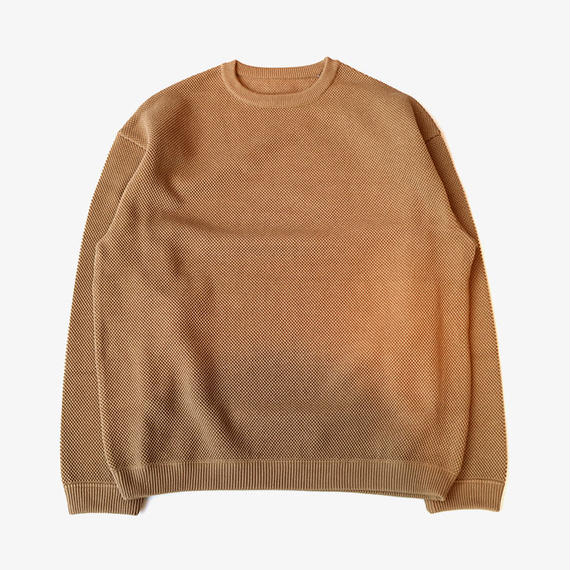crepuscule | moss stitch L/S sweat  | Khaki