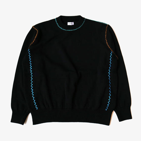 ALLEGE | Hand Stitch Knit  | BLACK