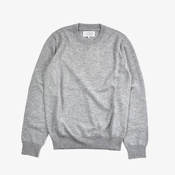 Maison Margiela | ELBOW PATCH SWEATER | Light grey