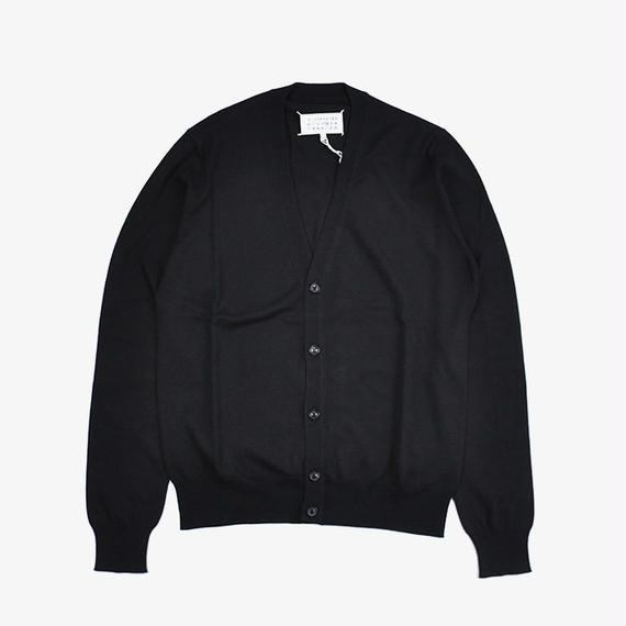 Maison Margiela | ELBOW PATCH CARDIGAN | Black