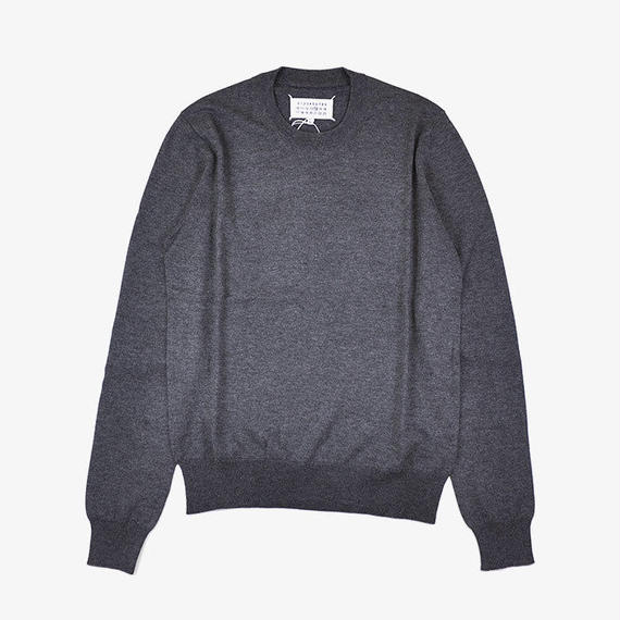 Maison Margiela | ELBOW PATCH SWEATER | Dark Grey