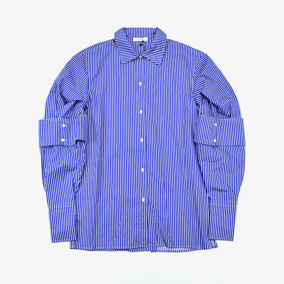DELADA | PUFFY SLEEVE SHIRT | HICK BLUE STRIPE