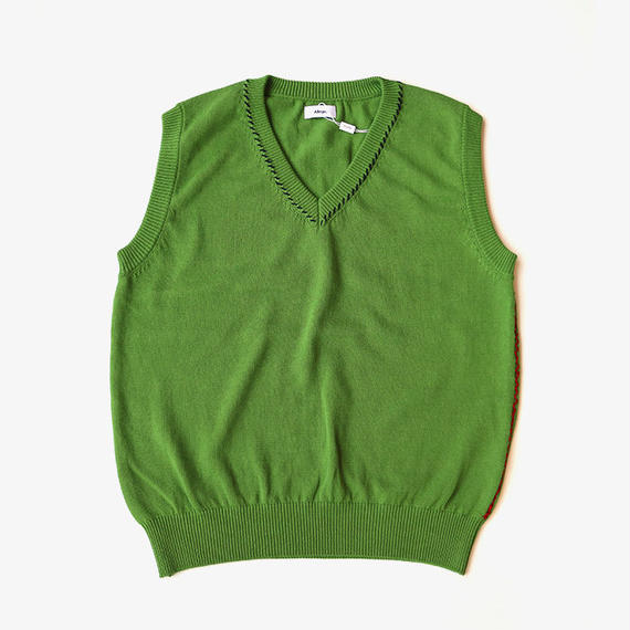 ALLEGE | Hand Stitch Knit Vest | GREEN
