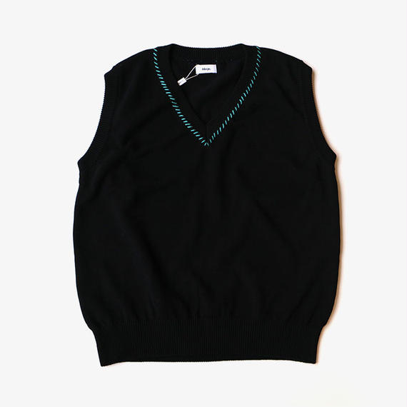 ALLEGE | Hand Stitch Knit Vest | BLACK