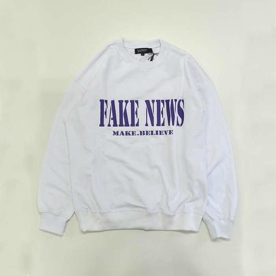 SHOOP | Fake News Sweatshirt | White