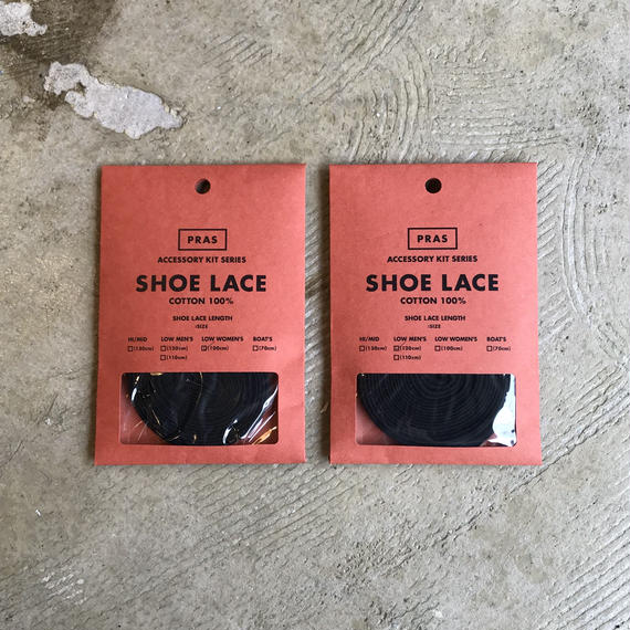 "PRAS ""SHOE LACE"" (BLACK)"