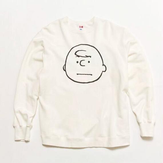 "VOTE MAKE NEW CLOTHES ""CHARLIE BROWN VTG BIG SWEAT"" (ホワイト)"