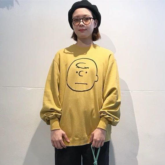 "VOTE MAKE NEW CLOTHES ""CHARLIE BROWN VTG BIG SWEAT"" (マスタード)"