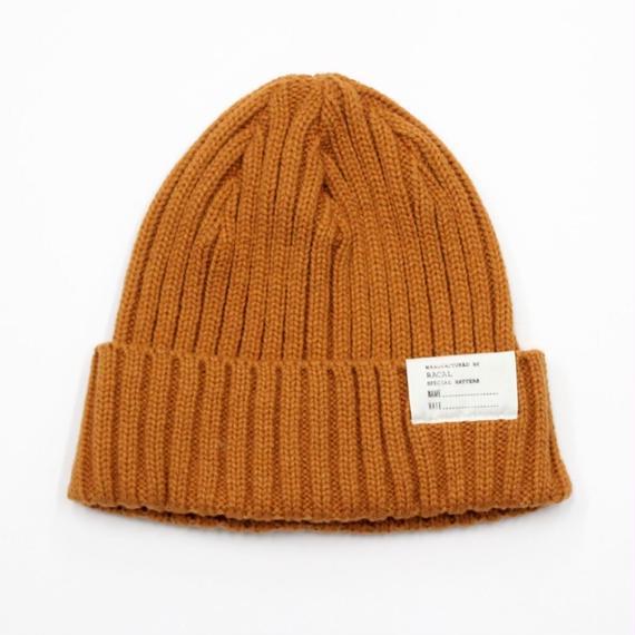 "RACAL ""Standard Knit CAP"" (キャメル)"
