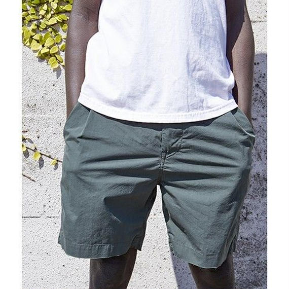 """Sandinista """"Packable Wide Stretch Short Pants""""(フォレストグリーン)"""