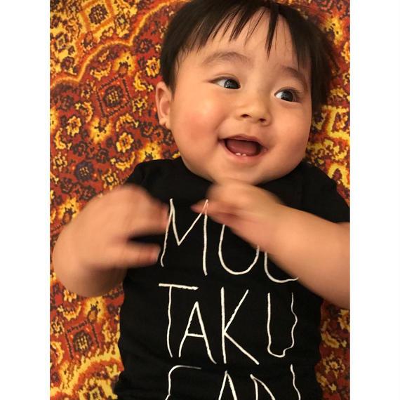 MOUTAKUSANDA!!!  BABY ロンパース (ブラック)
