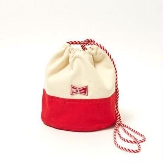"VOTE MAKE NEW CLOTHES ""KINCHAKU CANVAS POUCH S""(レッド)"