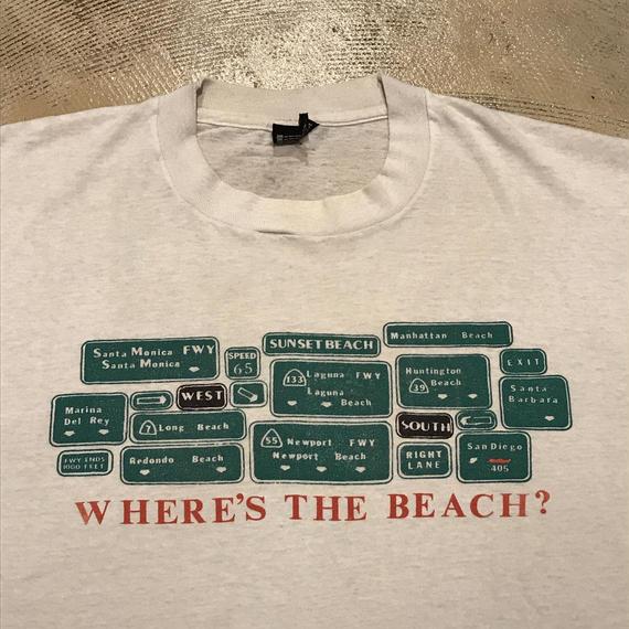 WHERE'S THE BEACH? Tee (used)