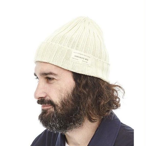 "Sandinista ""Daily Cotton Rib Knit Cap"" (オフホワイト)"