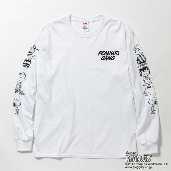 "VOTE MAKE NEW CLOTHES ""PEANUTS GANG L/S TEE""(ホワイト)"
