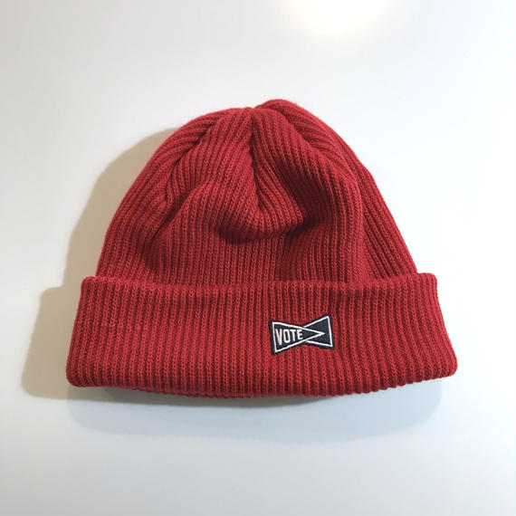 """VOTE MAKE NEW CLOTHES """"SIDE LOGO BEANIE"""" (レッド)"""