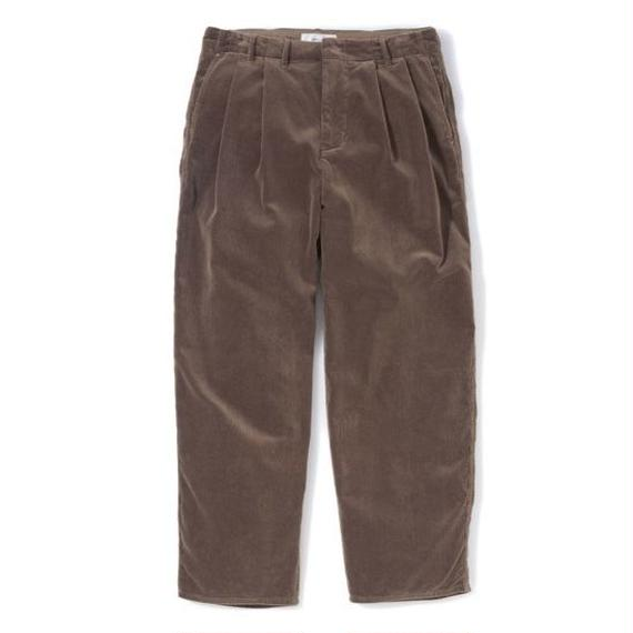 "Sandinista ""Cord Wide Tuck Pants"" (ブラウン)"