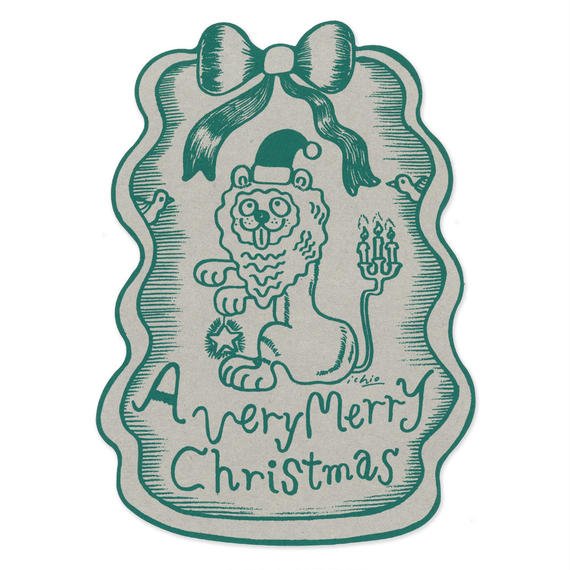 クリスマスカード『LION』(green)