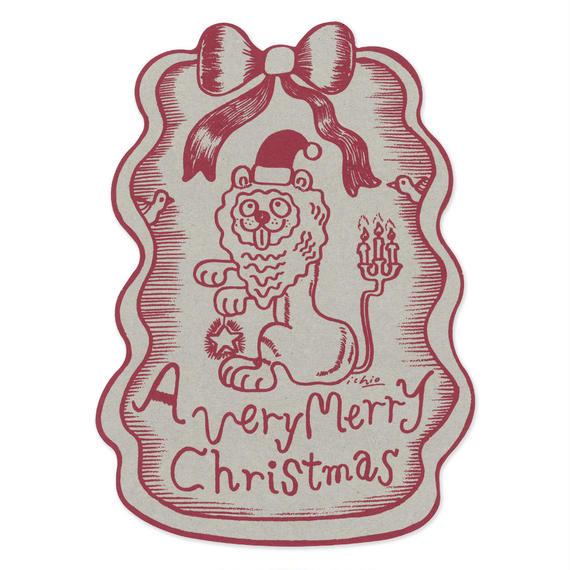 クリスマスカード『LION』(red)
