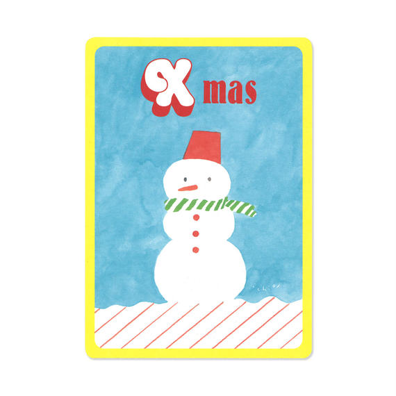 クリスマスカード『MOTIF 』(snowman)