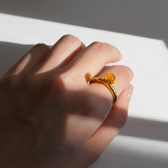 ring [bold] (kohaku/gold) [受注制作]