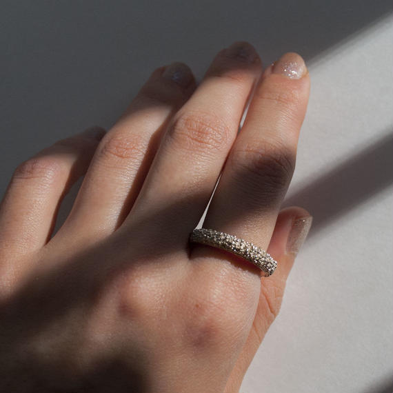 ring [crystallization] (typeC/silver) [受注制作]