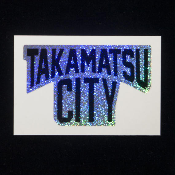 【Made in TAKAMATSU CITY】TAKAMATSU CITYステッカー(ホログラムノイズ)