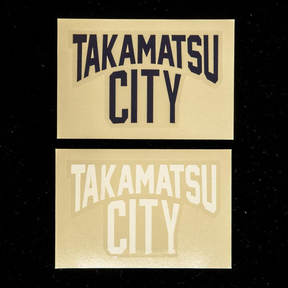 【Made in TAKAMATSU CITY】TAKAMATSU CITYステッカー(紺/白)2枚セット