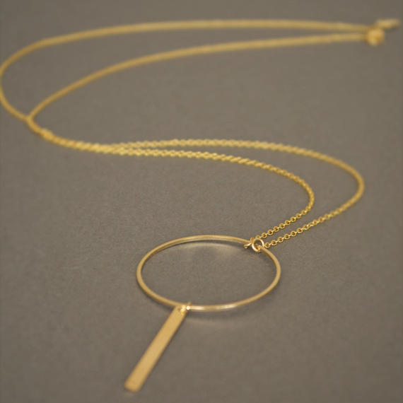 circle&rectangle necklace