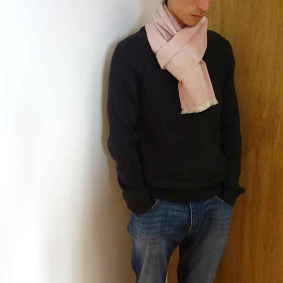 起毛シルク×ウールストール - Small / ピンク