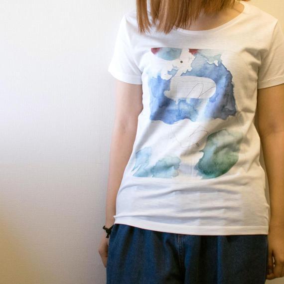 バードリ Tシャツ(薄手レディース オフホワイト S/M/L)