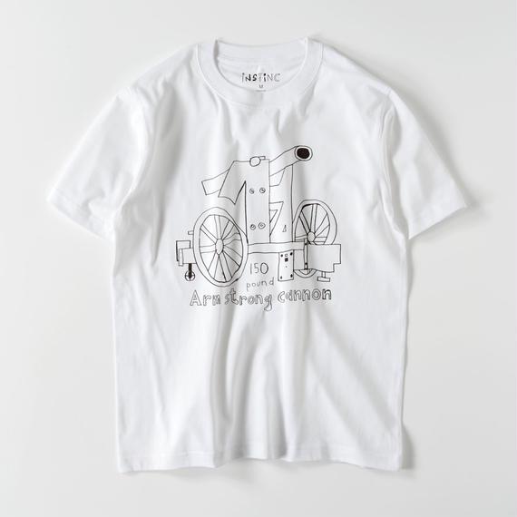 SATSUMA アームストロング砲 Tシャツ(ホワイト・グレー・ブラック  XS/S/M/L/XL/XXL)