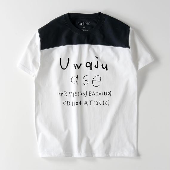 Uwaju フットボールTシャツ(ホワイト×ブラック・ブラック×ホワイト・グレー×バーガンディ・ネイビー×ホワイト S/M/L/XL)