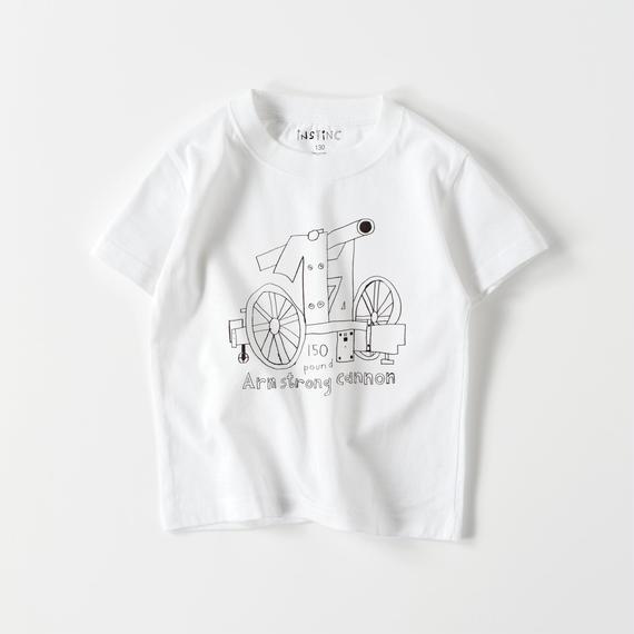 SATSUMA アームストロング砲 キッズTシャツ(ホワイト・グレー・ブラック 100/110/120/130/140/150/160)