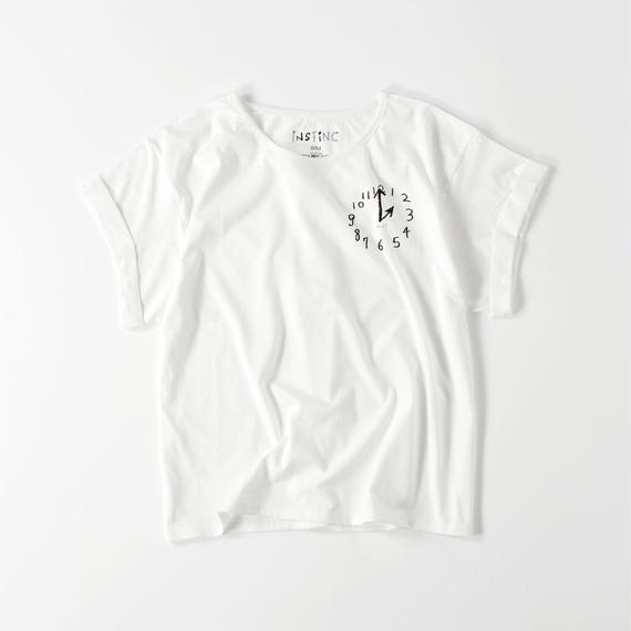 NIJI ロールアップ Tシャツ(レディース ホワイト FREE)