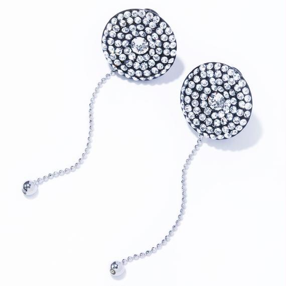 disc chain earring