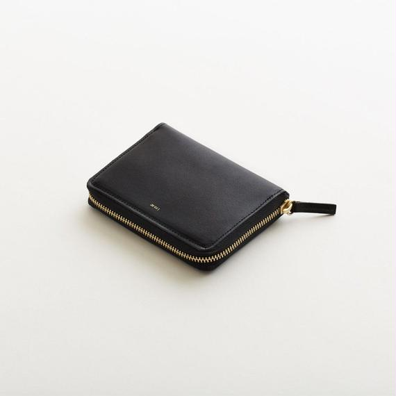 pop-up medium wallet (black / nude /  silver)