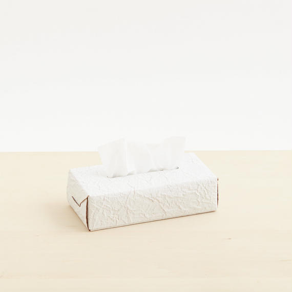 paper tissue box case(nude / white)