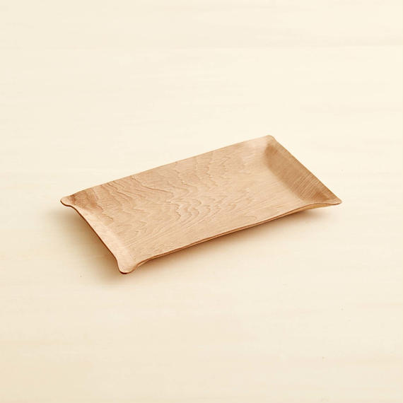 """""""plywood"""" leather tray"""