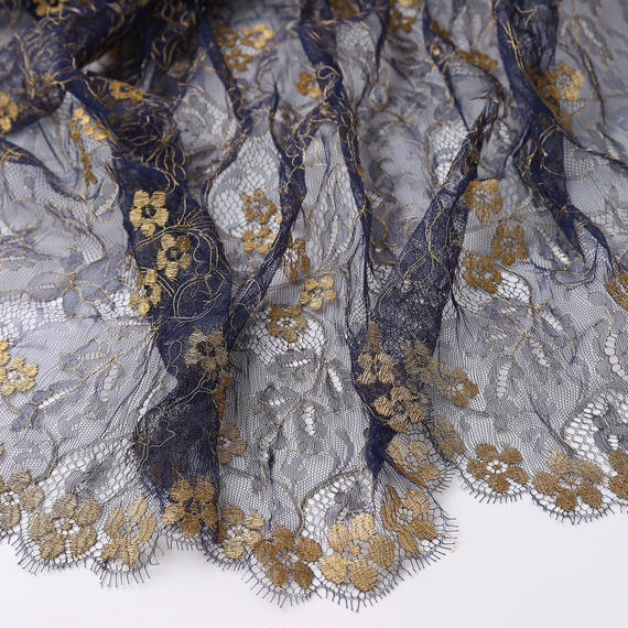 French Leavers Lace 105069.1/125  NAVY
