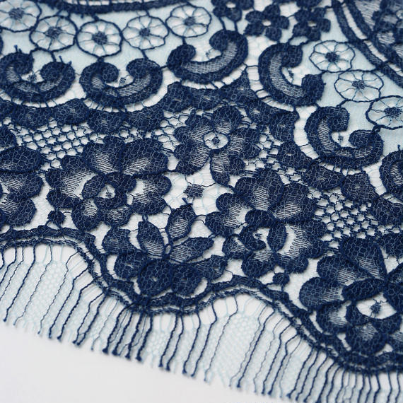 French Leavers Lace 761054.2/110  BLUE/NAVY