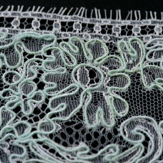 French Leavers Lace 12078.1/9 RPH2143  GREEN